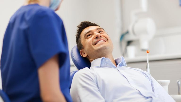 Man at Dentist | Prosthodontist Medina OH
