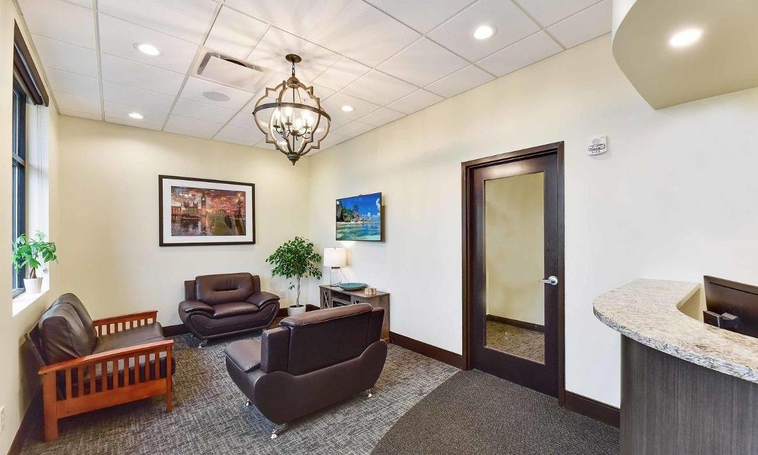 Waiting area at our Medina OH Prosthodontic Office